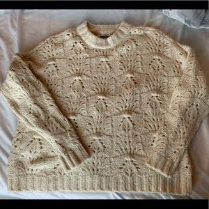 Cream knit oversized sweater